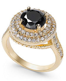 Charter Club Gold-Tone Crystal Halo Ring, Created for Macy's