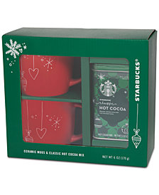 Starbucks Red Mug Gift Cocoa Set