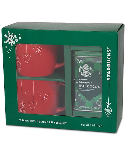Starbucks Red Mug Gift Cocoa Set Reviews Gourmet Food