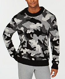 Michael Kors Men's Regular-Fit Chunky-Knit Camouflage Sweater