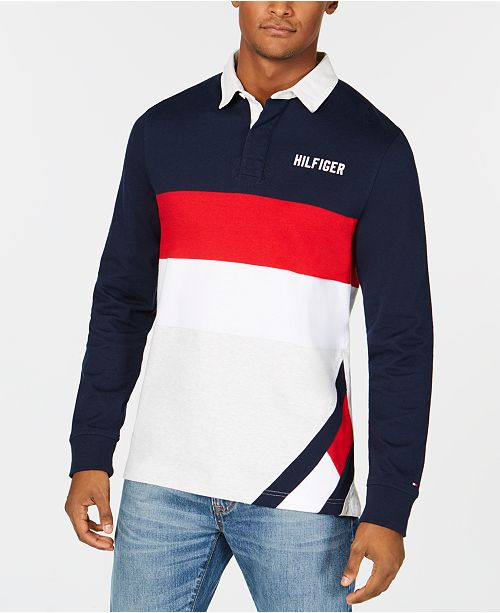 e08b7dfc Tommy Hilfiger Men's Big & Tall Colorblocked Rugby Shirt, Created ...