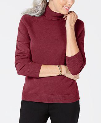 Karen Scott Luxsoft Turtleneck Sweater Created For Macys