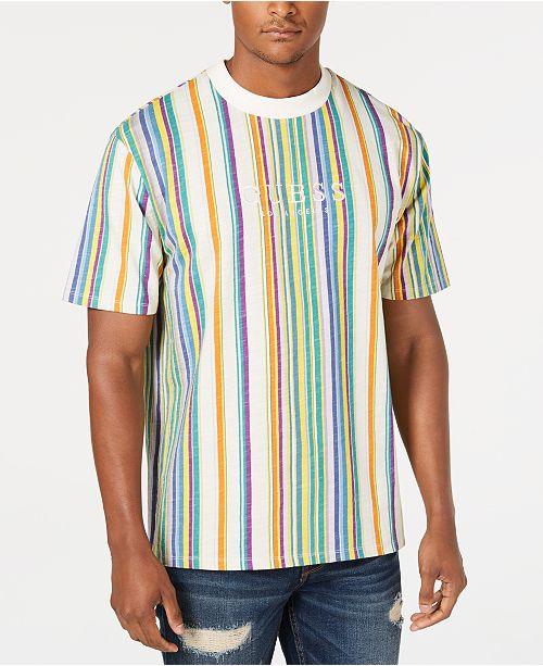 7622d8438 GUESS Originals Men s Riviera Striped T-Shirt  GUESS Originals Men s  Riviera Striped T- ...