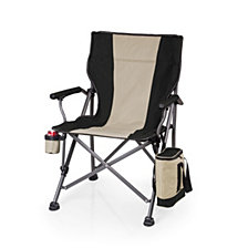 Picnic Time Black Outlander Folding Camp Chair with Cooler