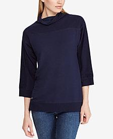 Lauren Ralph Lauren Cropped Mock Neck Pullover