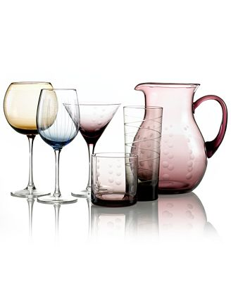 CLOSEOUT! Mikasa Glassware, Cheers Colors Collection