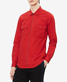 Calvin Klein Men's Zip Front Twill Shirt
