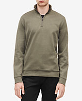 Calvin Klein Men s Classic Cotton Quarter-Zip Pullover Sweater c3523867a3