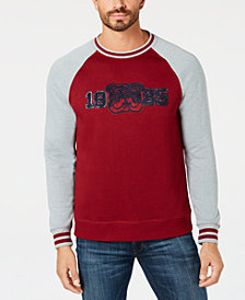 Club Room Men's Raglan Graphic Sweater, Created for Macy's
