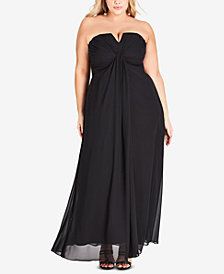 City Chic Trendy Plus Size Strapless Maxi Dress