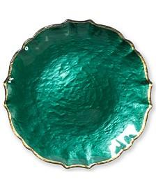 Vietri Pastel Glass Collection White Salad Plate