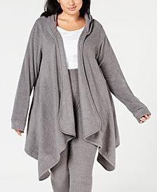 Cuddl Duds Plus Size Long-Sleeve Fleece Hooded Wrap