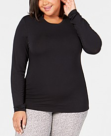 Plus Size Softwear Crew-Neck Top