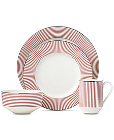 kate spade new york Laurel Street Collection Red 4-Pc. Place Setting