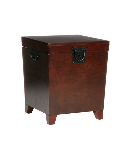 Southern Enterprises Pyramid Trunk End Table, Quick Ship