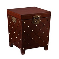 Nailhead End Table Trunk, Quick Ship