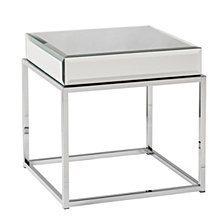 Dana Mirrored End Table, Quick Ship