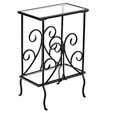 Decorative Metal Magazine Table, Quick Ship