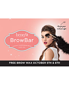 Receive a FREE Benefit Brow Wax Service Voucher with any $50 Benefit Cosmetics purchase. A $22 Value!