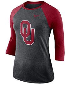 Nike Women's Oklahoma Sooners Dri-Blend Raglan T-Shirt