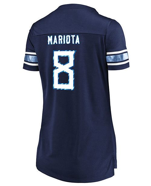 Top Majestic Women's Marcus Mariota Tennessee Titans Draft Him Shirt  for cheap