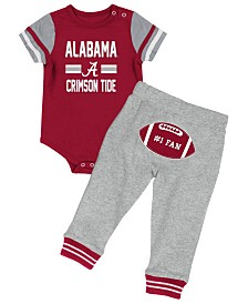Colosseum Alabama Crimson Tide Football Creeper Pant Set, Infants (0-9 Months)
