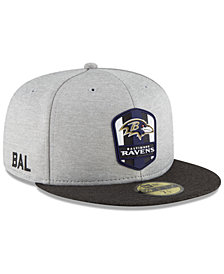 New Era Boys' Baltimore Ravens Official Sideline Road 59FIFTY Fitted Cap