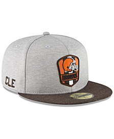 New Era Boys' Cleveland Browns Official Sideline Road 59FIFTY Fitted Cap