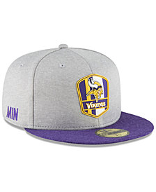 New Era Boys' Minnesota Vikings Official Sideline Road 59FIFTY Fitted Cap