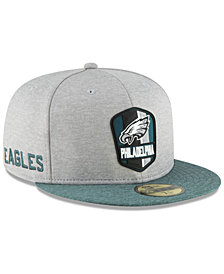 New Era Boys' Philadelphia Eagles Official Sideline Road 59FIFTY Fitted Cap