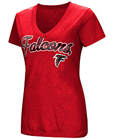 G-III Sports Women's Atlanta Falcons Tailspin Script Foil T-Shirt
