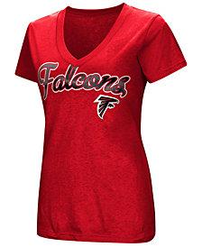 G-III Sports Women's Atlanta Falcons Tailspin Script Foil T-Shirt