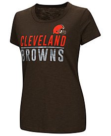 G-III Sports Women's Cleveland Browns Dynasty Stacked Glitter T-Shirt