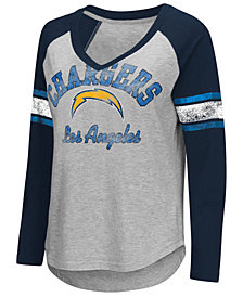 G-III Sports Women's Los Angeles Chargers Sideline Long Sleeve T-Shirt