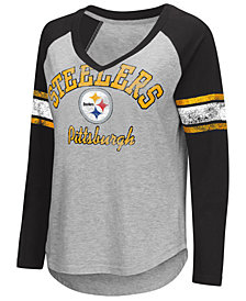 G-III Sports Women's Pittsburgh Steelers Sideline Long Sleeve T-Shirt
