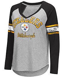 e3e7e6cb3f6 G-III Sports Women s Pittsburgh Steelers Sideline Long Sleeve T-Shirt