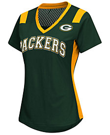 G-III Sports Women's Green Bay Packers Wildcard Jersey T-Shirt