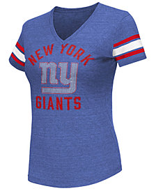 G-III Sports Women's New York Giants Wildcard Bling T-Shirt