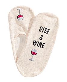 Hot Sox Women's Rise & Wine Printed Liner Socks