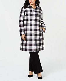 Anne Klein Plus Size Peter-Pan-Collar Coat