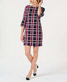 Charter Club Petite Plaid Shift Dress, Created for Macy's