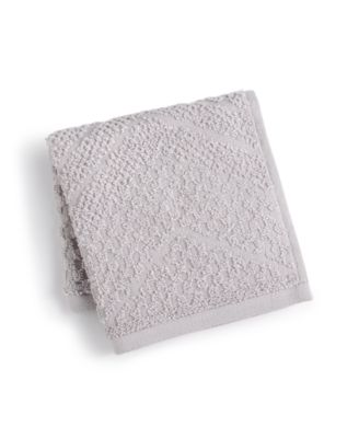 LAST ACT! Cotton Zig-Zag Textured Wash Towel