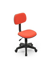 Armless, Low-Back, Adjustable Height, Swiveling Task Chair with Padded Back and Seat