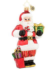 Christopher Radko Macy's Santa Ornament