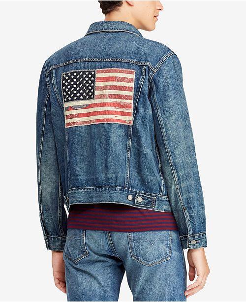 79e2c4328fc Polo Ralph Lauren Men s Denim Trucker Jacket - Coats   Jackets - Men ...