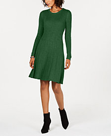 Jessica Howard Ribbed Sweater Dress