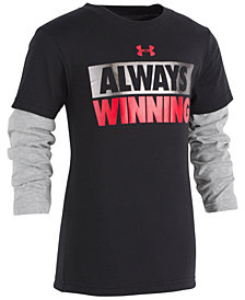 Under Armour Toddler Boys Winning-Print Layered-Look Cotton T-Shirt