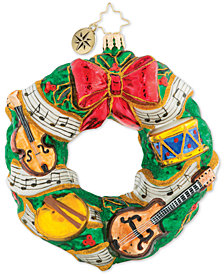 Christopher Radko Rhythmic Christmas Wreath Ornament