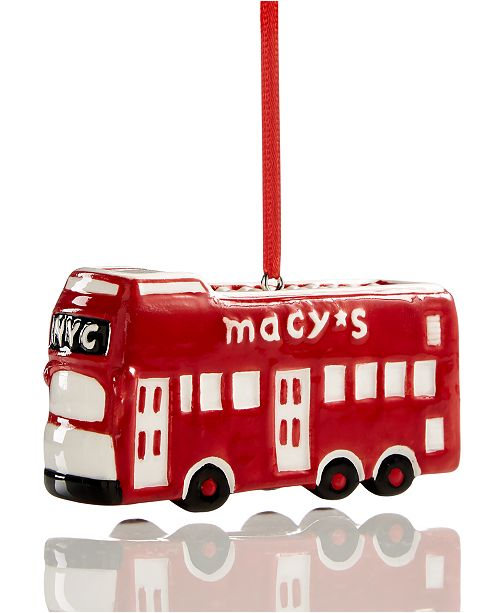 Macy's Collectible Site Seeing Bus Ornament, Created for Macy's