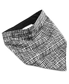 House of Barker Black White Reversible Bandanna Small